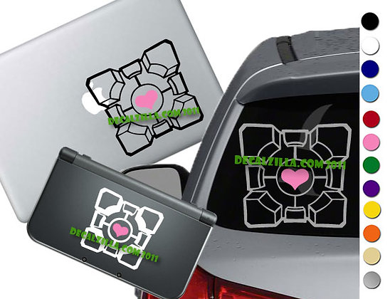 Portal Companion Cube - Vinyl Decal Stickers For cars, laptops, and more!