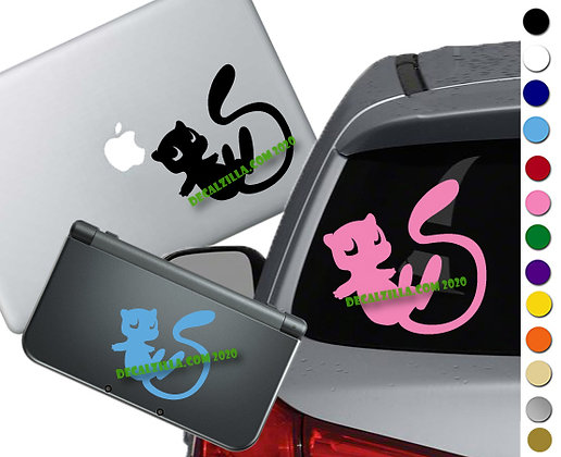 Pokemon Mew - Vinyl Decal For cars, laptops, and more!