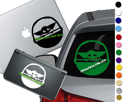 The Mandalorian Grogu in Pod- Vinyl Decal Sticker For cars, laptops, and more!