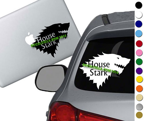 Game of Thrones- House Stark - Vinyl Decal Sticker - For cars, laptops and more!