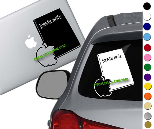 Death Note- Notebook - Vinyl Decal Sticker - For cars, laptops and more!