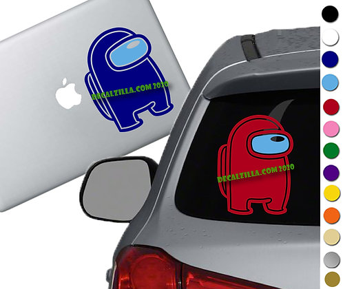 Among Us  - Vinyl Decal Sticker - For cars, laptops, and more!