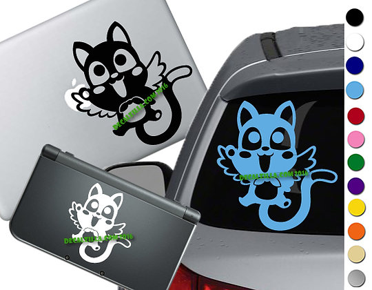 Cheerful Cat - Vinyl Decal Sticker - For cars, laptops and more!