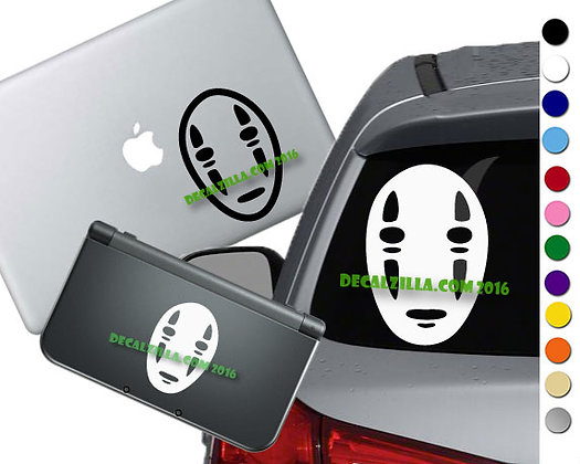 Spirited Away- No Face - Vinyl Decal Sticker For cars, laptops, and more!