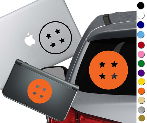 Anime Ball with 4 stars - Vinyl Decal Sticker For cars, laptops, and more!