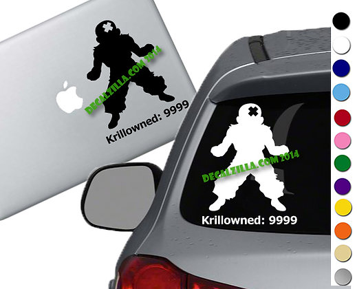 Anime Power up- Krillowned - Vinyl Decal Sticker - For cars, laptops, and more!