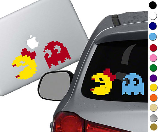 Mrs. Pac Man - Vinyl Decal Sticker - For cars, laptops, and more!