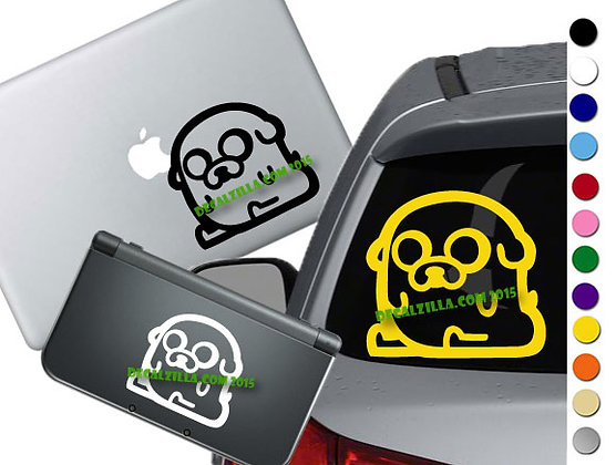 Adventure Time Jake- Vinyl Decal Sticker For cars, laptops, and more!
