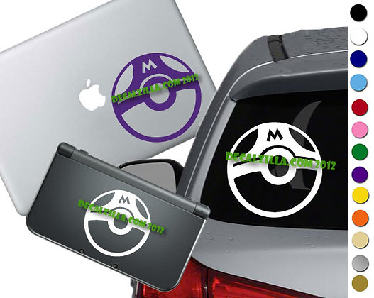 Pokemon - Master Ball - Vinyl Decal Sticker For cars, laptops, and more!