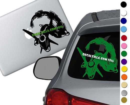 Pokemon- Rayquaza - Vinyl Decal Sticker - For cars, laptops and more!