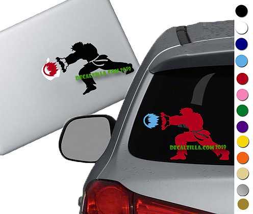 Street Fighter Ken - Vinyl Decal Sticker - For cars, laptops, and more!