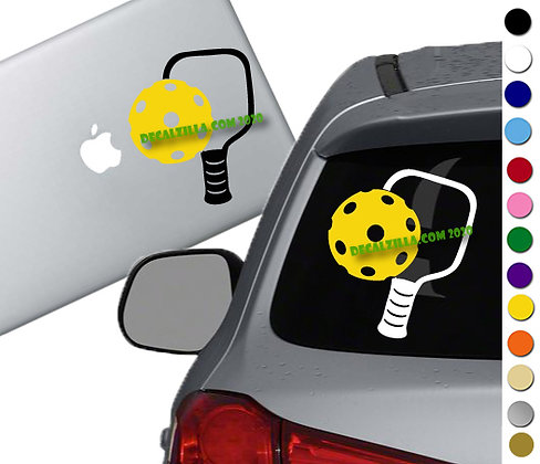 Pickleball - Vinyl Decal Sticker - For cars, golf carts, laptops and more!