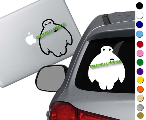 Big Hero 6 - Baymax - Vinyl Decal Sticker - For cars, laptops, and more!
