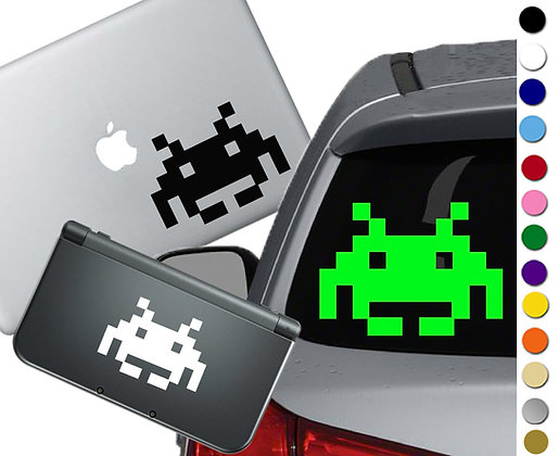 Space Invaders - Vinyl Decal Sticker For cars, laptops, and more!
