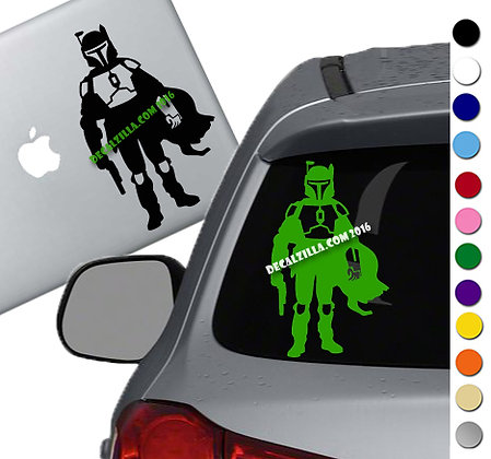 Star Wars - Boba Fett - Vinyl Decal Sticker - For cars, laptops and more!