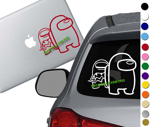 Among Us - Imposter Behind You- Vinyl Decal Sticker - For cars, laptops and more