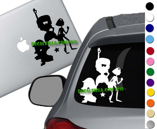 Steven Universe Silhouette - Vinyl Decal Sticker - For cars, laptops, and more!