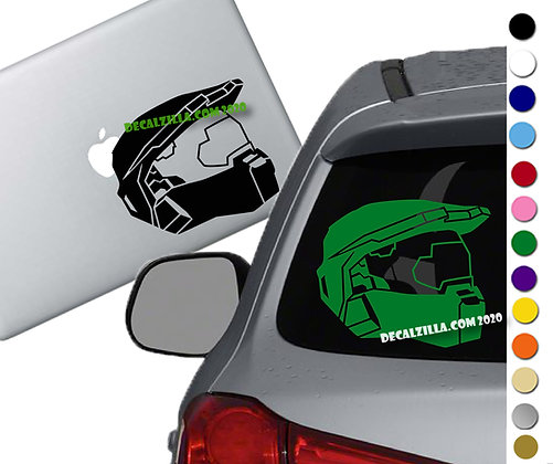 Halo - Master Chief - Vinyl Decal Sticker - For cars, laptops, and more!