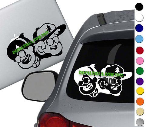 Gravity Falls Mabel and Dipper- Vinyl Decal Sticker - For cars, laptops and more
