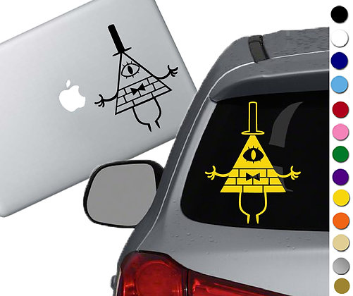 Gravity Falls Bill Cipher - Vinyl Decal Sticker - For cars, laptops, and more!