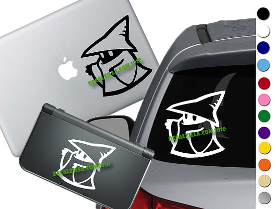 Final Fantasy - Black Mage - Vinyl Decal Sticker For cars, laptops, and more!
