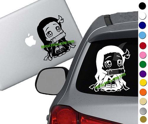 Demon Slayer- Nezuko - Vinyl Decal Sticker - For cars, laptops and more!