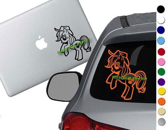 Sale! MLP Applejack -Vinyl Decal Sticker For cars, laptops, and more!