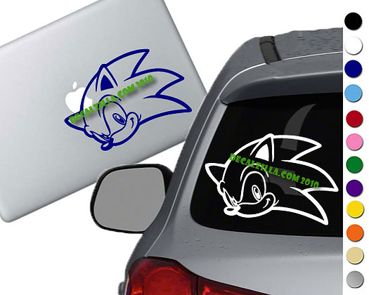 Sonic - Vinyl Decal Sticker - For cars, laptops, and more!