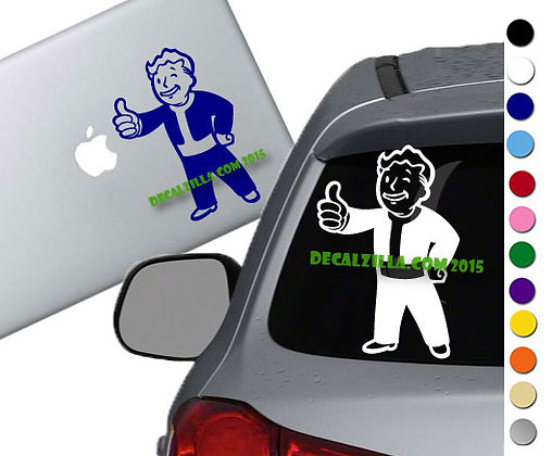Fallout Vault Boy - Vinyl Decal Sticker - For cars, laptops and more!
