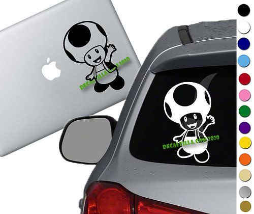 Mario- Toad - Vinyl Decal Sticker - For cars, laptops and more!