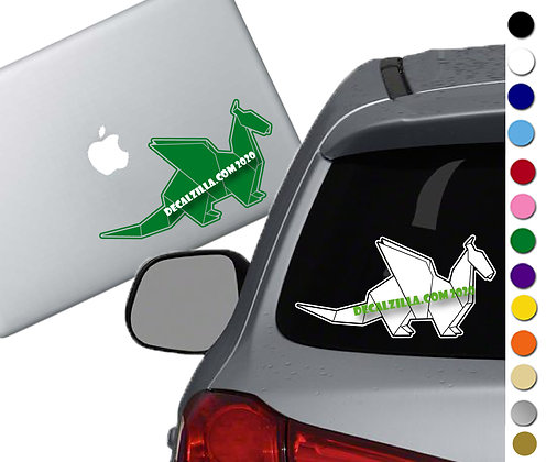 Origami Dragon - Vinyl Decal Sticker - For cars, laptops, and more!