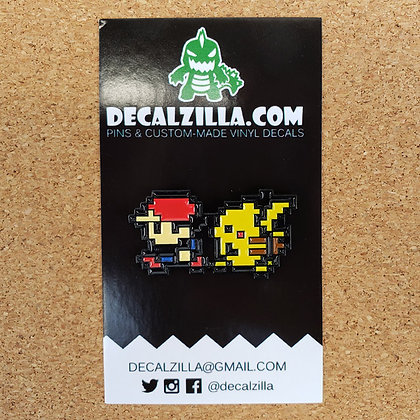 Pokemon Red and Pikachu - Hard Enamel Pin For Clothes, Backpacks and more!