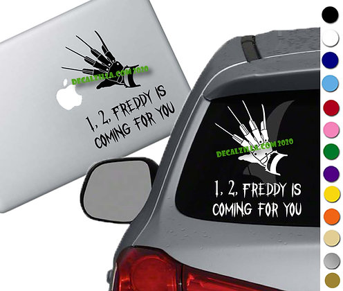 Nightmare on Elm Street - Freddy - Vinyl Decal Sticker - For cars and more!