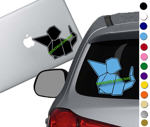 Origami Mouse - Vinyl Decal Sticker - For cars, laptops, and more!
