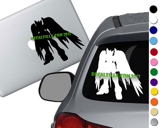 Gundam Wing Zero - Vinyl Decal Sticker - For cars, laptops and more!