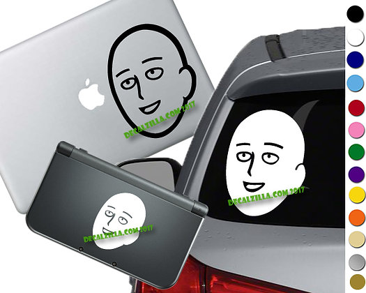 One Punch Man Saitama - Vinyl Decal For cars, laptops, and more!