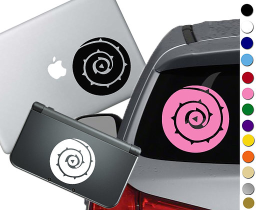 "Sale! 1.5"" Rose's Shield  -Mini Vinyl Decal Sticker For laptops and more!"