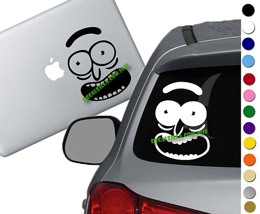 Rick and Morty- Rick Face - Vinyl Decal Sticker - For cars, laptops, and more!