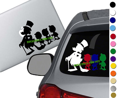 Ducktales 1987 - Vinyl Decal Sticker - For cars, laptops, and more!