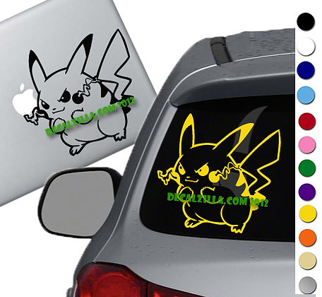 Pokemon- Pikachu Thundershock - Vinyl Decal Sticker - For cars and more!