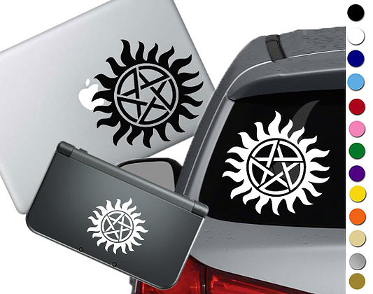 Supernatural Anti Possession- Vinyl Decal Sticker For cars, laptops, and more!