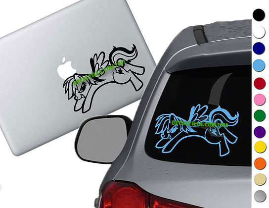 Sale! MLP Rainbow Dash -Vinyl Decal Sticker For cars, laptops, and more!
