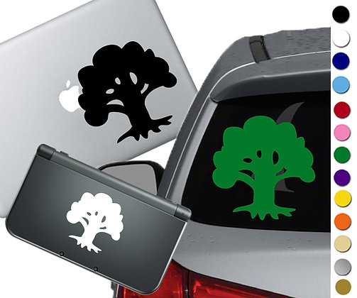Magic the Gathering- Forest - Vinyl Decal Sticker For cars, laptops, and more!