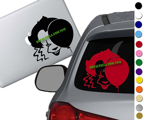 It- Pennywise Clown - Vinyl Decal Sticker - For cars, laptops and more!