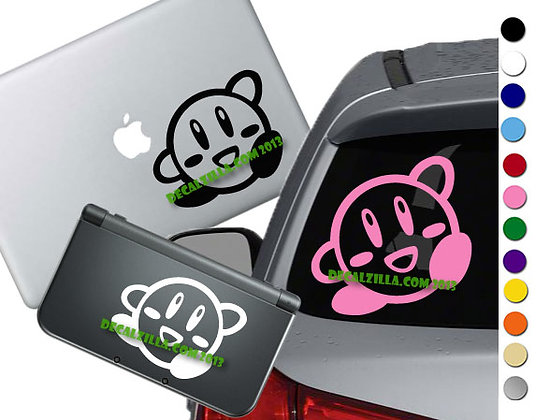Kirby Wave- Vinyl Decal Sticker For cars, laptops, and more!
