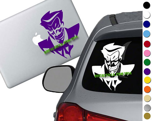 Batman - Joker - Vinyl Decal Sticker For cars, laptops, and more!
