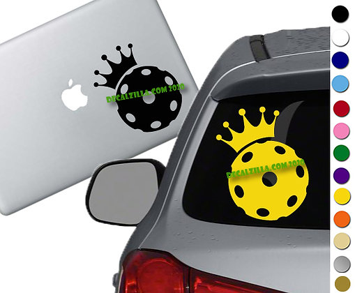 Pickleball King or Queen - Vinyl Decal Sticker - For cars, golf carts and more!