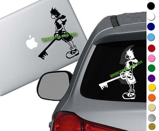 Kingdom Hearts - Sora - Vinyl Decal Sticker - For cars, laptops and more!