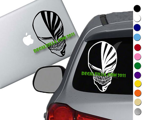 Bleach - Ichigo Hallow Mask - Vinyl Decal Sticker - For cars, laptops and more!