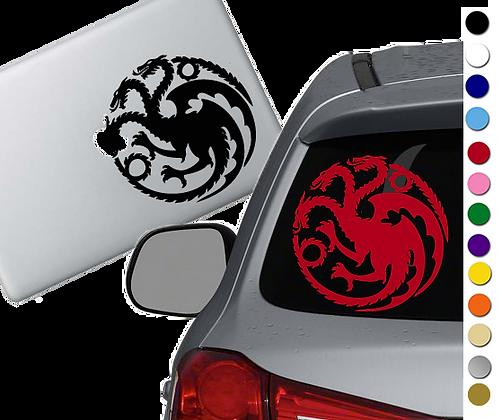 Game of Thrones- Targaryen - Vinyl Decal Sticker - For cars, laptops and more!